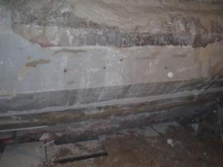 デフレクター部傾斜天井(西側)耐火物打設中
